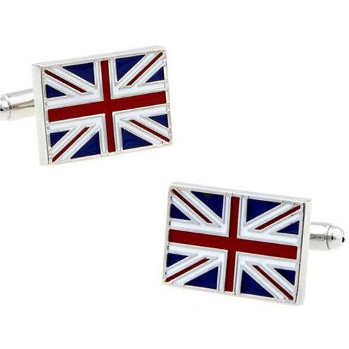UNION JACK FLAG UK ENAMELED CUFFLINKS