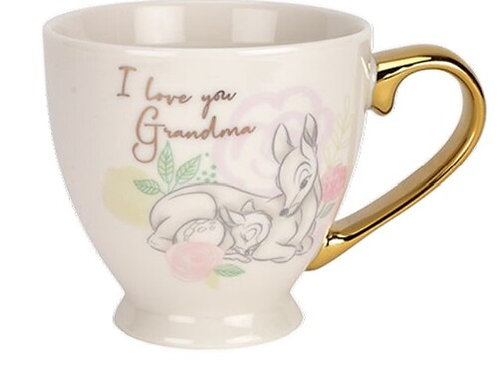 DISNEY BAMBI MUG I LOVE YOU GRANDMA MOTHERS DAY WIDDOP & CO 10cm HEIGHT