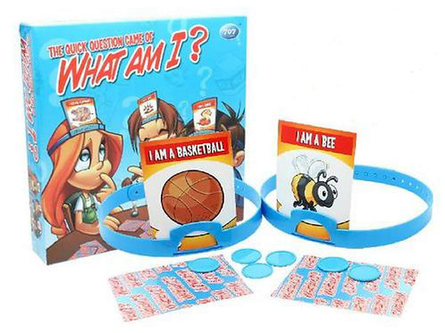 WHAT AM I THE QUICK QUESTION GAME HOT HAND BANZ FAMILY BOARD GAME PARTY GAME