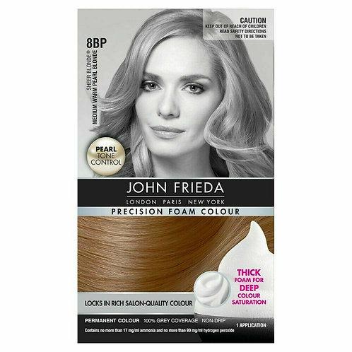 JOHN FRIEDA PRECISION FOAM SALON QUALITY HAIR COLOUR MEDIUM WARM PEARL BLONDE8BP