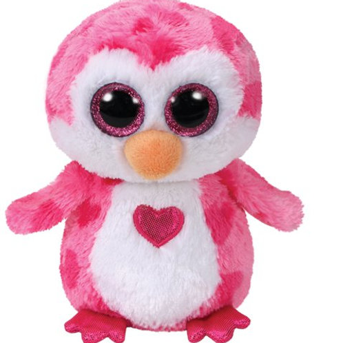JULIET THE VALENTINE PINK PENGUIN TY BEANIE 15 cms