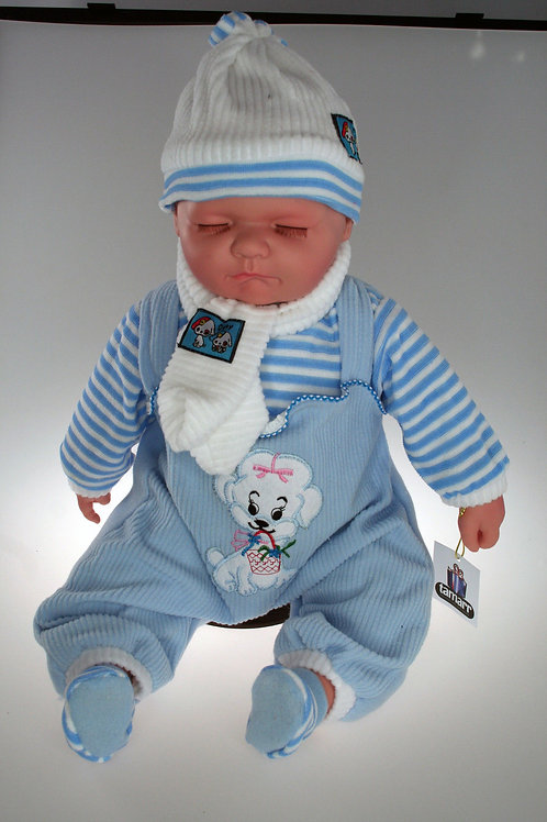 REALISTIC SLEEPING BABY DOLL MAX IN BODY SUIT AND BEANIE 51CM