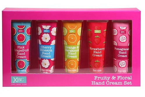 XBC FRUITY AND FLORAL 5 PIECE HAND CREAM 30ML EACH GIFT SET MOTHERS DAY