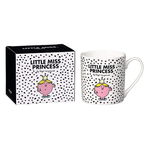 MR MEN LITTLE MISS PRINCESS WHITE MUG BONE CHINA GIFT BOXED