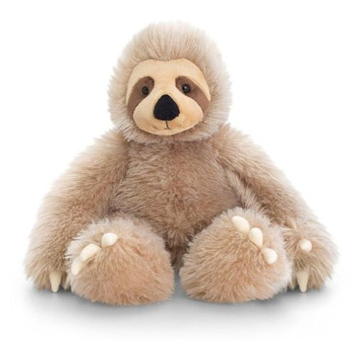 KORIMCO KEEL TOES SLOTH 26cm STITTING SOFT TOY THREE TOED SLOTH VELCRO HANDS