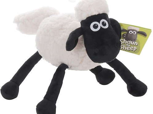 AURORA AARDMAN SHAUN THE SHEEP 20CM PLUSH TOY WITH DANGLING LIMBS
