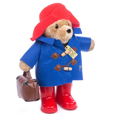 CLASSIC LARGE PADDINGTON BEAR 36CM WITH WELLIES AND BRIEFCASE