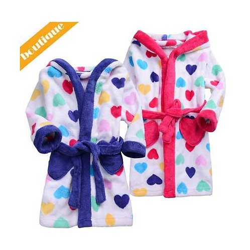 BABY GIRL DRESSING GOWN FROM TWEET TWOO JUNIOR PINK OR BLUE SIZE 0 - 2 YEARS