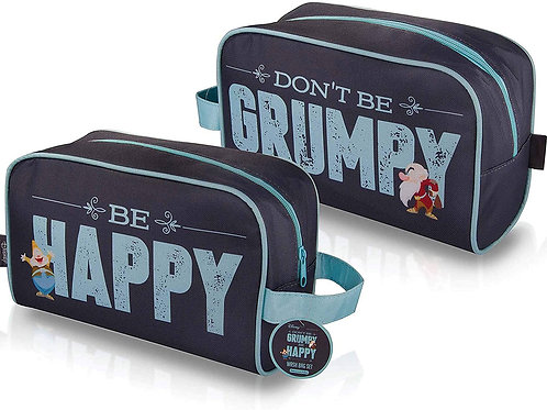 DISNEY GRUMPY WASH BAG QUALITY BAG WITH AFTER SHAVE BALM AND BODY WASH