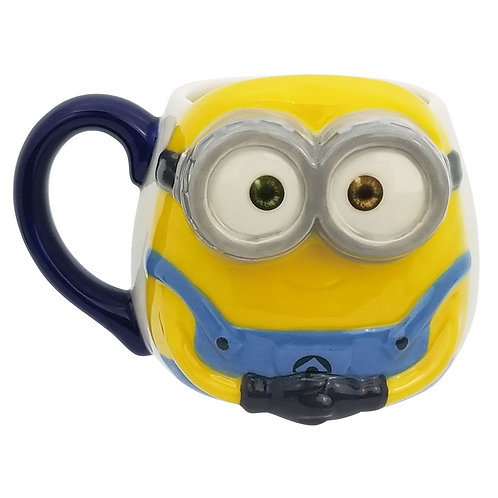 MINIONS BOB CERAMIC 3D FACE MUG 350ML IN GIFT BOX UNIVERSAL STUDIOS LICENSED