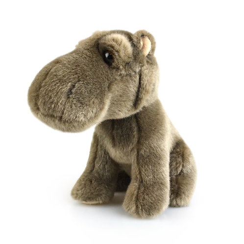 GREY HIPPO 18 CM KORIMCO LIL FRIENDS THE ECO  PLUSH TOY  AND ECO FRIENDLY TAG