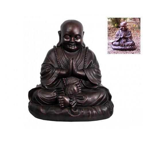 52cm BRONZE HAPPY PRAYING BUDDHA