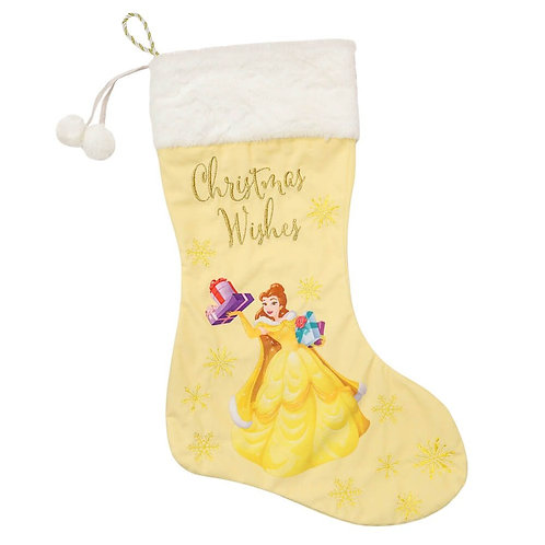 DISNEY BELLE COLLECTIBLE CHRISTMAS VELVET STOCKING 62CM FROM WIDDOP & CO