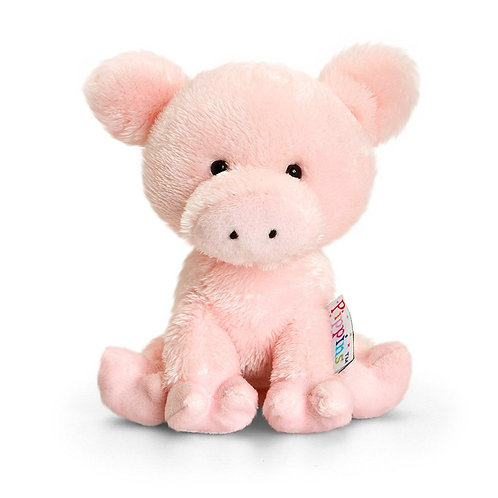 PIPPINS CURLY THE PIG BY KEEL TOYS KORIMCO 14CMS