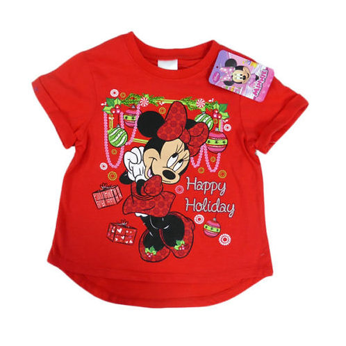 MINNIE MOUSE CHRISTMAS HAPPY HOLIDAY T SHIRT