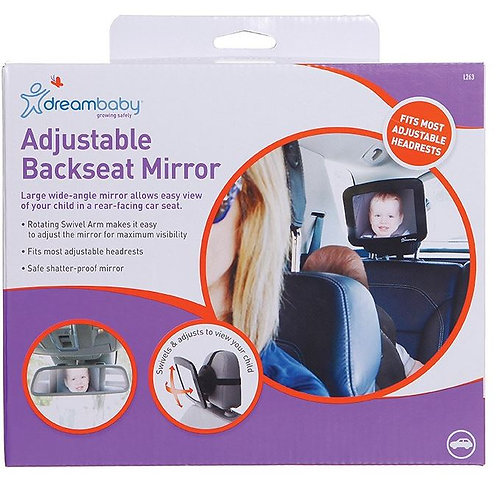 DREAM BABY BACKSEAT MIRROR LARGE WIDE ANGLE MIRROR