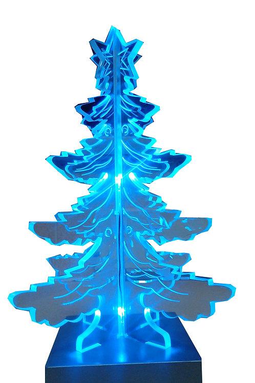ACRYLIC 3D CHRISTMAS TREE BLUE LED LIGHTS BNIB