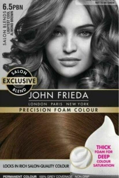 JOHN FRIEDA PRECISION FOAM SALON QUALITY HAIR COLOUR ALMOND BROWN 6.5BPN