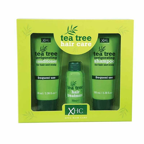 XHC TEA TREE OIL GIFT SET SHAMPOO , CONDITIONER , HAIR TREATMENT HAIR AND SCALP