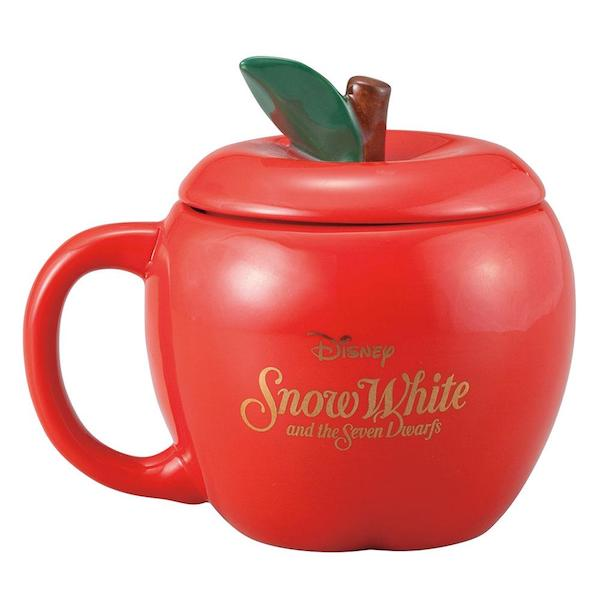 DISNEY SHOW WHITE CERAMIC APPLE MUG