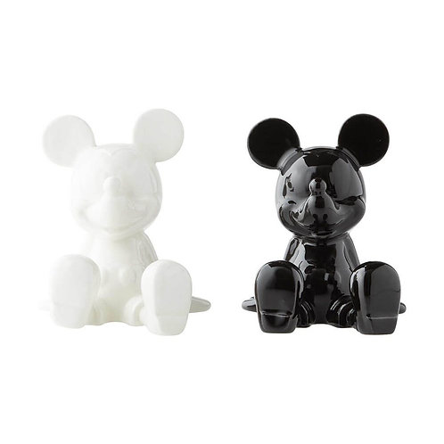 DISNEY BLACK AND WHITE MICKEY SALT AND PEPPER SHAKERS GIFT BOX