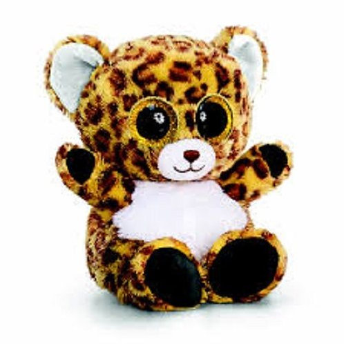 KEEL TOYS ANIMOTSU  BEANIE 15CM LEOPARD CALLED DOTTY