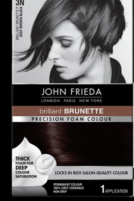 JOHN FRIEDA PRECISION FOAM SALON QUALITY HAIR COLOUR DEEP BROWN BLACK 3N