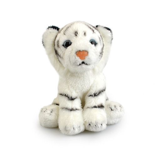 WHITE  TIGER  15CM KORIMCO LIL FRIENDS THE ECO   PLUSH TOY  AND ECO FRIENDLY TAG