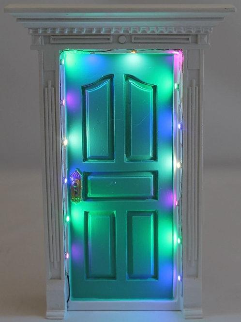 SECRET LIGHT UP LED LIGHTS FAIRY DOOR AQUA FV132 KID TOOTH FAIRY