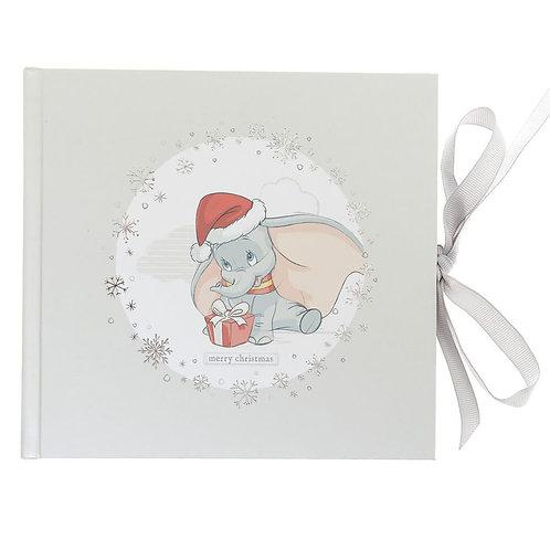 DISNEY BABY DUMBO MERRY CHRISTMAS PHOTO ALBUM TIED WITH A GREY RIBBON