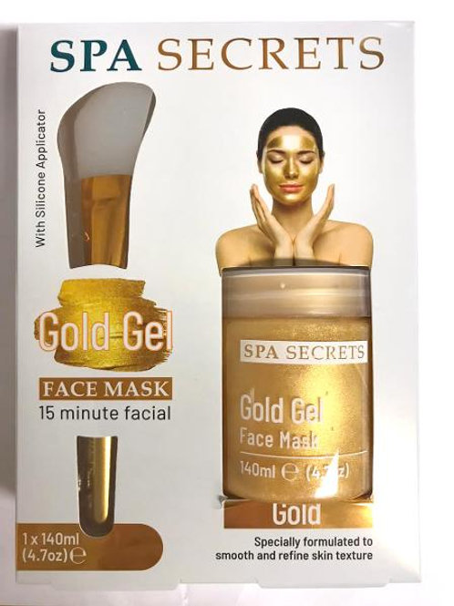 SPA SECRETS GOLD GEL FACE MASK 140ML WITH SILICONE APPLICATOR