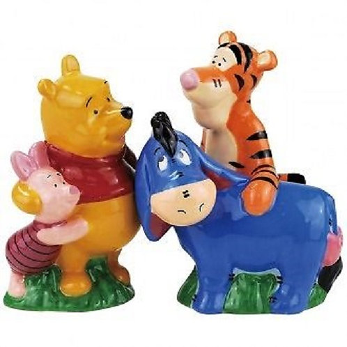 DISNEY BEST OF FRIENDS, POOH SALT AND PEPPER MAGNETIC SHAKERS