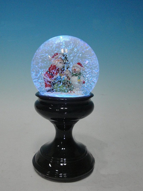 MUSICAL WATER BALL SNOW GLOBE WITH SANTA AND SNOWMAN