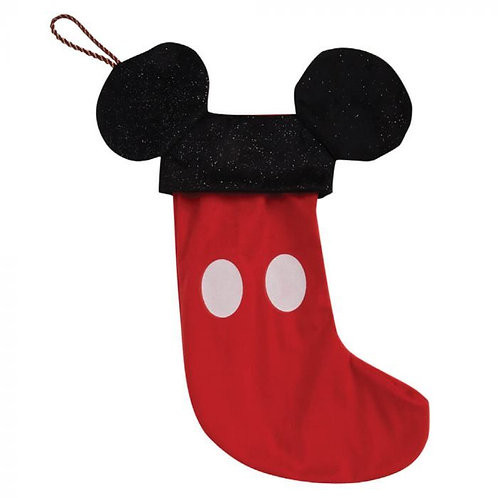 DISNEY MICKEY MOUSE CHRISTMAS RED VELVET GIFT STOCKING MICKEY EARS WIDDOP & CO