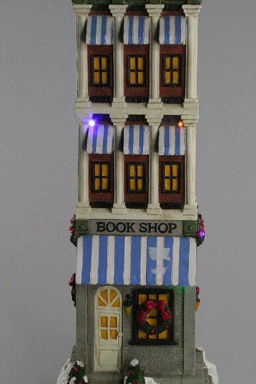 LIGHT UP CHRISTMAS TALL HOUSES BOOKSHOP