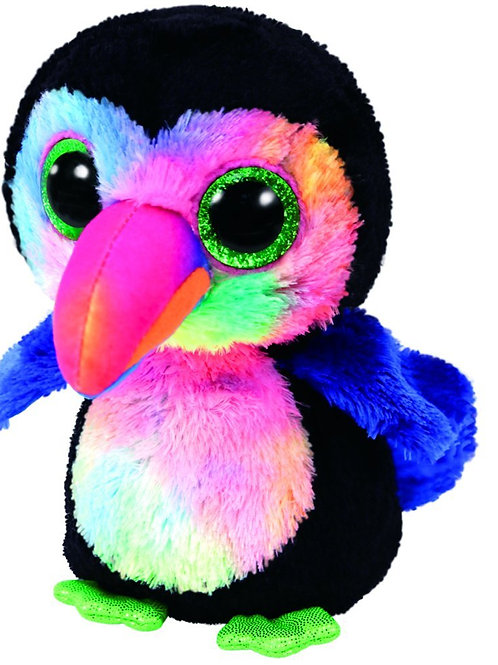 BEAKS THE BLACK TOUCAN TY BEANIE BOOS 15cm