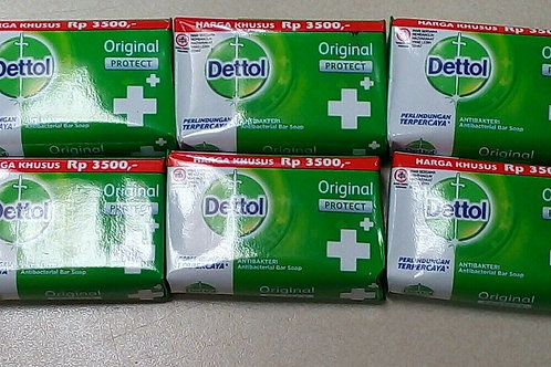ORIGINAL DETTOL SOAP BUY 6 X  70G EACH BAR USE FOR HANDS , FACE AND BODY