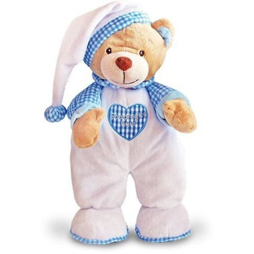 KEEL TOYS GOODNIGHT BEAR BLUE 25CMS