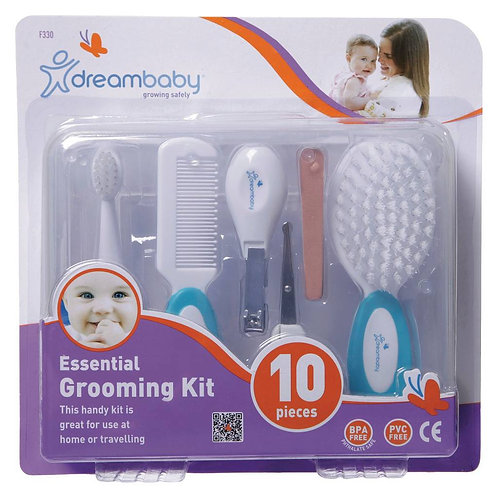 DREAM BABY BLUE 10 PIECE ESSENTIAL GROOMING KIT HARD CASE  BPA AND PVC FREE