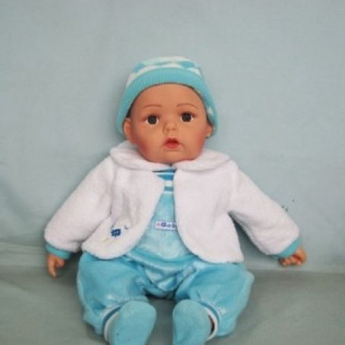 REALISTIC WIDE AWAKE BABY DOLL ASHLEY IN BODY SUIT BEANIE AND JACKET 51CM