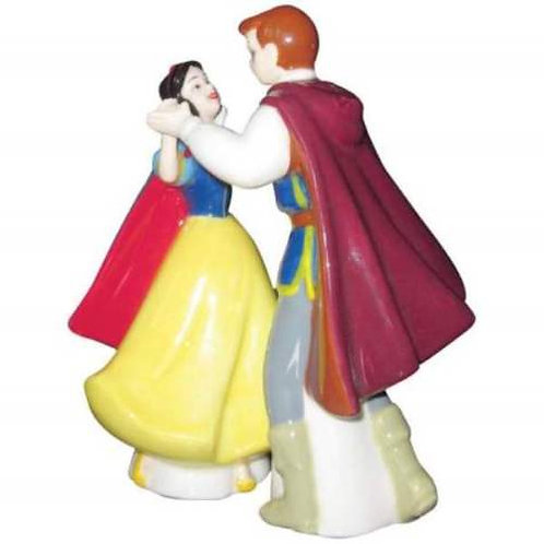 DISNEY SNOW WHITE AND THE PRINCE DANCE SALT AND PEPPER MAGNETIC SHAKERS