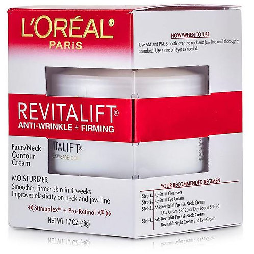 L'OREAL PARIS REVITALIFT FACE AND NECK CONTOUR CREAM 48G MADE IN THE US