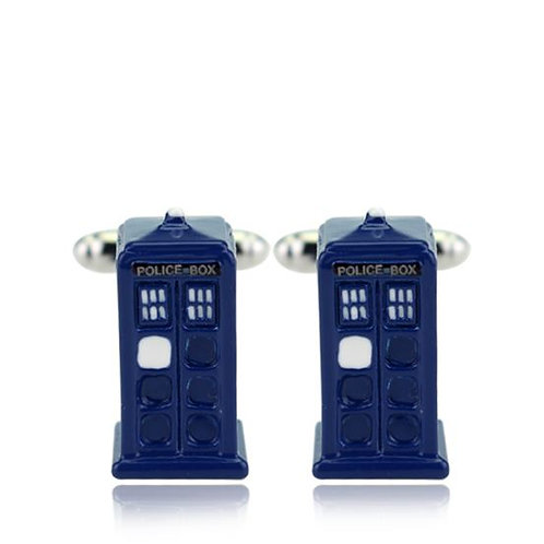 TARDIS TV SERIES DOCTOR WHO POLICE BOX NOVELTY CUFFLINKS