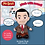 Thumbnail: MR BEAN TALKING PLUSH 24CM TWEED JACKET TIE AND SHINY SHOES