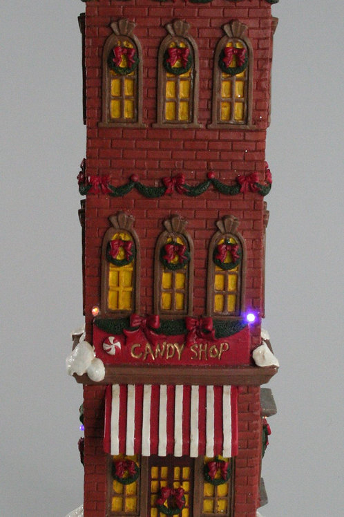 LIGHT UP CHRISTMAS TALL HOUSES CANDY SHOP