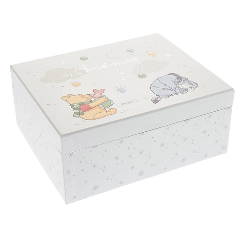 DISNEY BABY MAGICAL BEGINNINGS POOH CHRISTMAS KEEPSAKE BOX