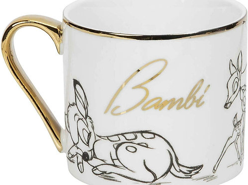 DISNEY COLLECTABLE BAMBI GOLD RIM MUG FROM WIDDOP & CO