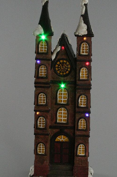 LIGHT UP CHRISTMAS TALL HOUSES THE CHURCH