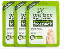 3 X tea tree foot pack