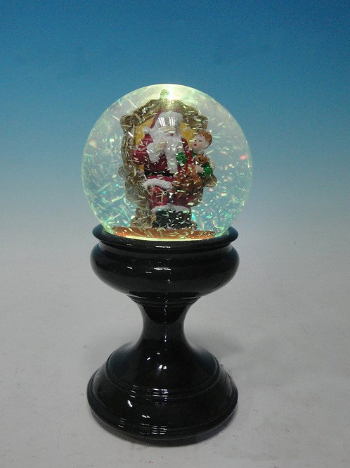 CHRISTMAS MUSICAL WATER BALL SNOW GLOBE WITH SANTA AND CHILD